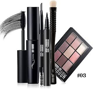 FantasyDay 5PCS Makeup Gift Set Makeup Bundle Beauty Essentials Starter Makeup Kit Including Eyeliner Pen, Eyebrow Pen, Mascara, Eyeshadow and Eyeshadow Brush Makeup Tool Set #3