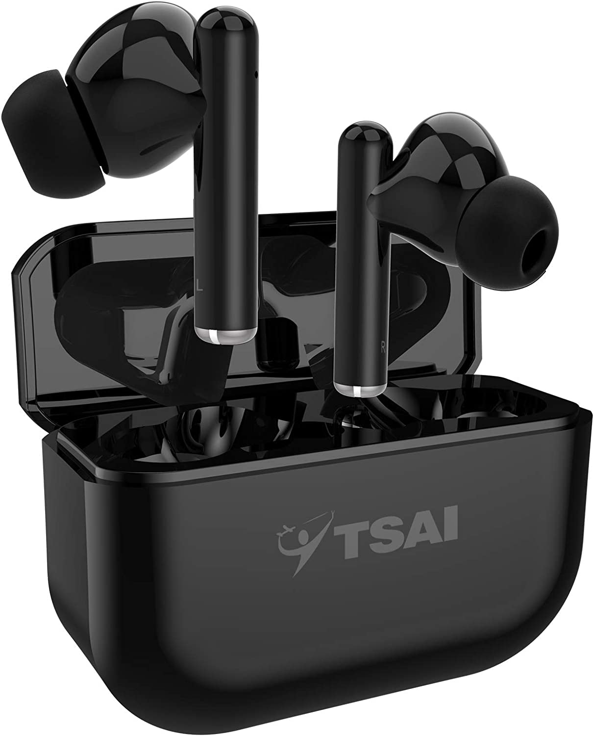 Wireless Earbuds, Bluetooth Earbuds with Microphone Touching Control Bass in-Ear TWS Stereo Headphones, True Wireless Bluetooth Earbuds with Charging Case 30 Hours Playback for iPhone and Android