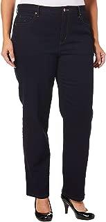 Gloria Vanderbilt Plus Size Women's Amanda Classic Tapered Jean, Rinse Noir, 16W Short
