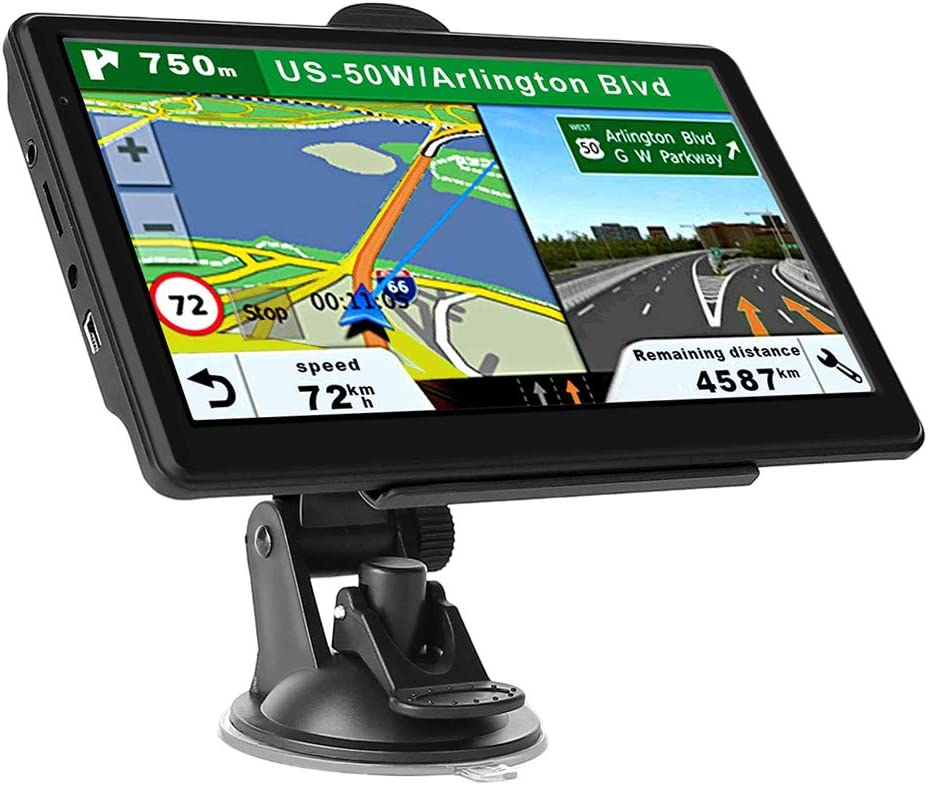 GPS Navigation for Car Truck, Touchscreen 7 Inch 8G 256M Navigation System with Voice Guidance Free Map Update - USA Canada