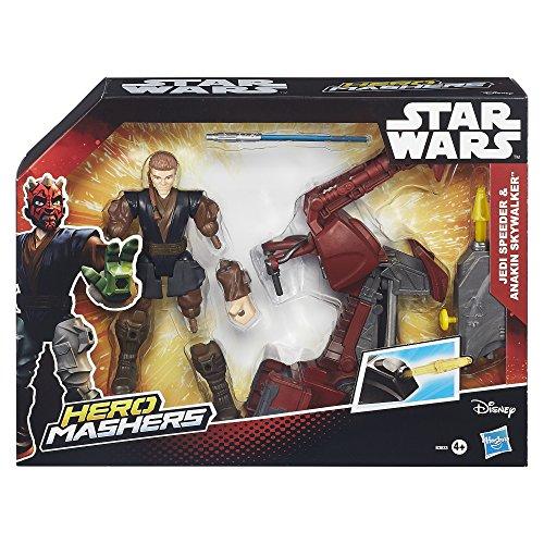 HASBRO Star Wars Hero MASHERS - Sith Speeder & Darth Maul SPEEDERS Figure (B3832)