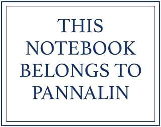 This Notebook Belongs to Pannalin