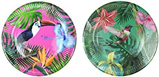Talking Tables FST5-PLATE-BRIGHT-M We Heart Birthdays Glitter Candle-9, Papier, Multicolores, 2,5 x 22,7 x 22,7 cm