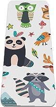 Yogamat - beer panda wasbeer konijn - Extra dikke antislip oefening & fitnessmat voor alle soorten yoga, pilates & vloertr...