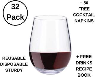 krosno stemless wine glasses set of 6