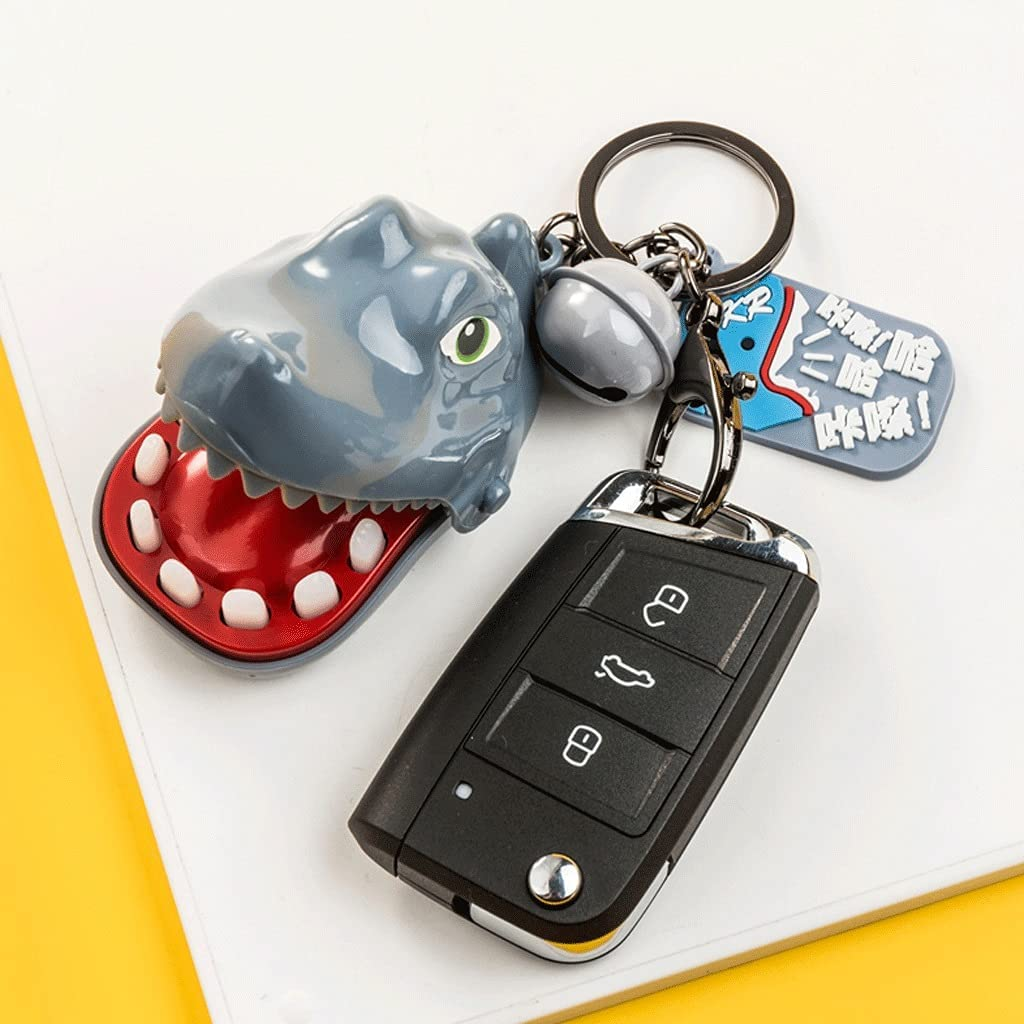 Key Chain Gift Plastic + Alloy Keyring Golden Cute Keyrings Key Chain Holder for Women Girls Car Key Ring Crafts Bags (Color : Gray Blue, Size : 10 Piece)