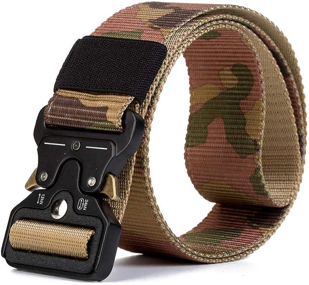 TP TACTICAL,Cinturón Táctico Militar, Correa de Seguridad de Nylon,Camuflaje,Policial,Airsoft y Caza