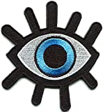 HHO Eye Eyeball Tattoo Wicca Occult Goth Punk Retro Patch Embroidered DIY Patches, Cute Applique Sew Iron on Kids Craft Patch for Bags Jackets Jeans Clothes