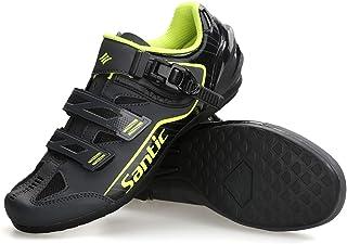 Santic Cycling Shoes Men SPD Spin Unlocked Bike Bicycle Road Biking Lock Shoes MTB Cycling Accessories Self-Locking Shoes