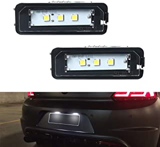 Gempro 2Pcs LED Number License Plate Light Lamp Assembly For VW Golf GTI Eos CC Scirocco Beetle Phaeton Passat Rabbit