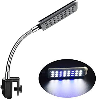 ECtENX LED Aquarium Light, Fish Tank Light, Clip on Fish Tank Lighting Color with White & Blue