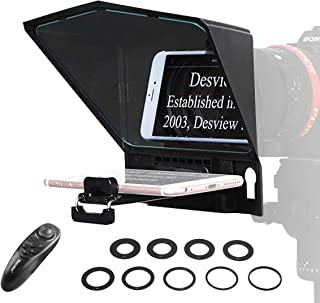 comprar comparacion Desview T2 Teleprompter-Smartphone-Tablet-Móvil-DSLR Cámara, Autocue Telepronter Compatible para iPad Mini y iPhone, con C...