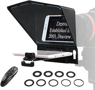 comprar comparacion Desview T2 Teleprompter-Smartphone-Tablet-Móvil-DSLR Cámara, Autocue Telepronter Compatible para iPad Mini y iPhone, con C...