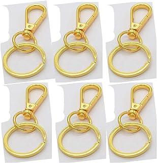 plata HEALLILY anillo de salto y conector accesorios para manualidades metal dividido con cadena abierta Juego de 50 piezas de llavero