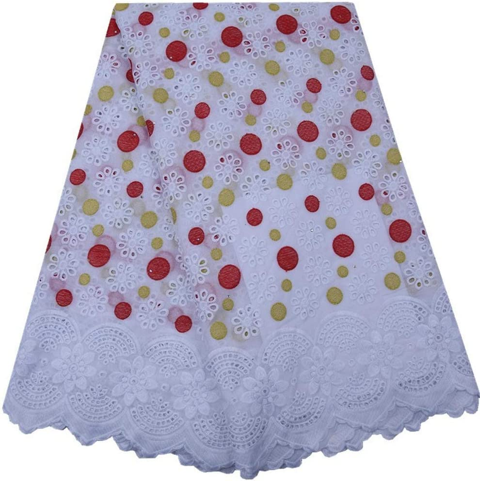 ZHANGOOQI Lace Popular standard African Holes Cotton New sales Voile Fabric Swiss with