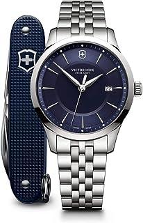 Victorinox - Hombre Alliance - Reloj de Acero Inoxidable de Cuarzo analógico de fabricación Suiza con Herramienta pionera del ejército Suizo 241802.1