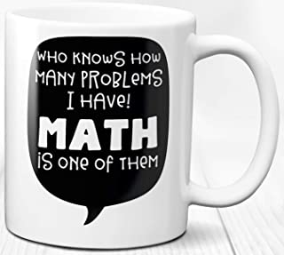 Cita de matemáticas Taza de café Regalo Mensaje divertido Taza de cerámica de 330 ml Problema de matemáticas