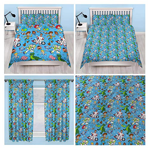 Toy Story 4 Rescue Double Duvet Cover Set + Matching Curtains 54' Drop