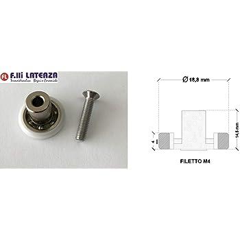 Repuesto Rodamiento Diámetro 18,8 mm Rueda Rueda Box ducha rodillos ruedas cabina: Amazon.es: Bricolaje y herramientas
