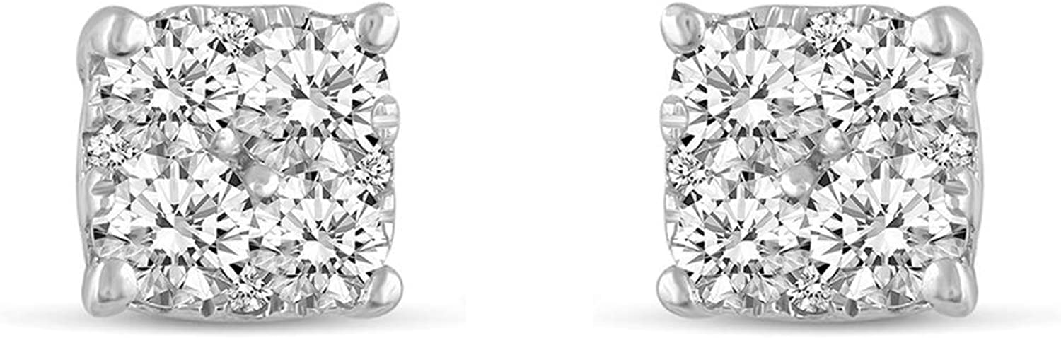 .25Cttw Houston Mall to 1.00Cttw Cushion Diamond Stud 925 Earrings Brand new set in Ste
