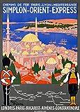 Roger Broders Poster, Motiv Orient Express for London,