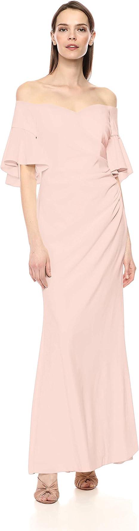 Calvin Klein Damen Sweetheart Off The Shoulder Gown Kleid