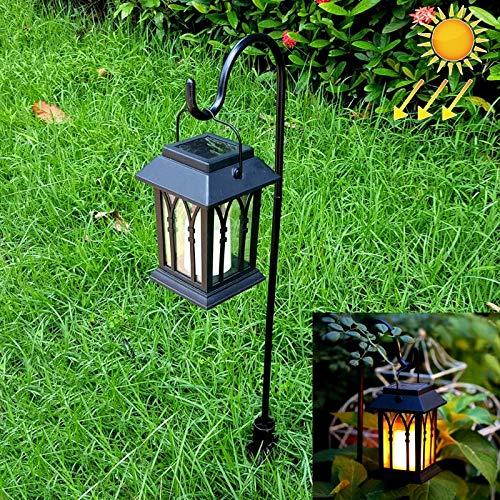 Chitty LEH-55153G Vela de jardín con luz Solar Lámpara de jardín LED con Poste y Panel Solar de silicio amorfo de 0.2W Calentar