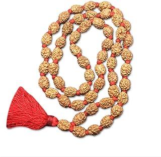 3 Mukhi Indonesian Rudraksha Mala 54 Beads 12mm-14mm Lab Certified