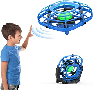 Drone for Kids, SANROCK Flying Ball Toys Hand Operated UFO Mini Drone with Fan Mode,Mini Infrared Airplane Lifting Great Gifts for Boys and Girls (Blue)