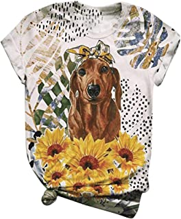 SSDXY Womens Animal Printed T Shirt