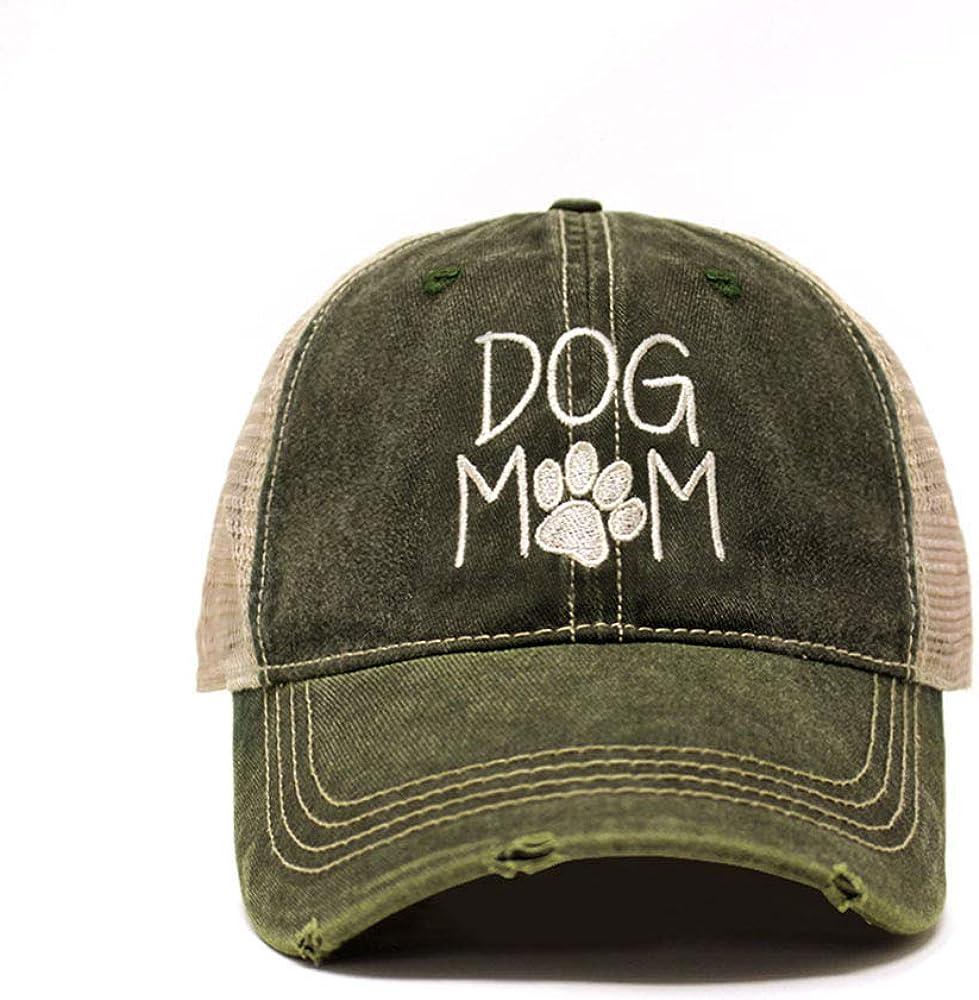 Dog Mom Trucker Hats for Women Premium Cotton Jean Vintage Style Baseball Cap Spring Summer Trendy Seasonal Walking Headwear