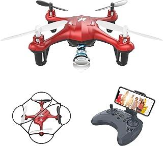 ATOYX Mini Drone para Niños con Cámara AT-96 RC Quadcopter con App FPV en Tiempo Real Sensor de Gravedad 3D Flips Una Tecla de Despegue/Aterrizaje Drone de Juguete para y Principiantes Rojo