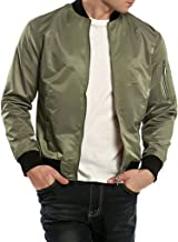 Coofandy Men's Classic Varsity Baseball Bomber Jacket Casual Lightweight Flight Jacket