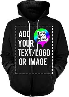 custom full zip hoodies