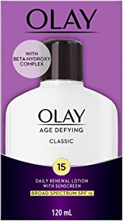 OLAY Age Defying Classic Daily Renewal Lotion, With Sunscreen, Classic 4 oz (Pack of 2)