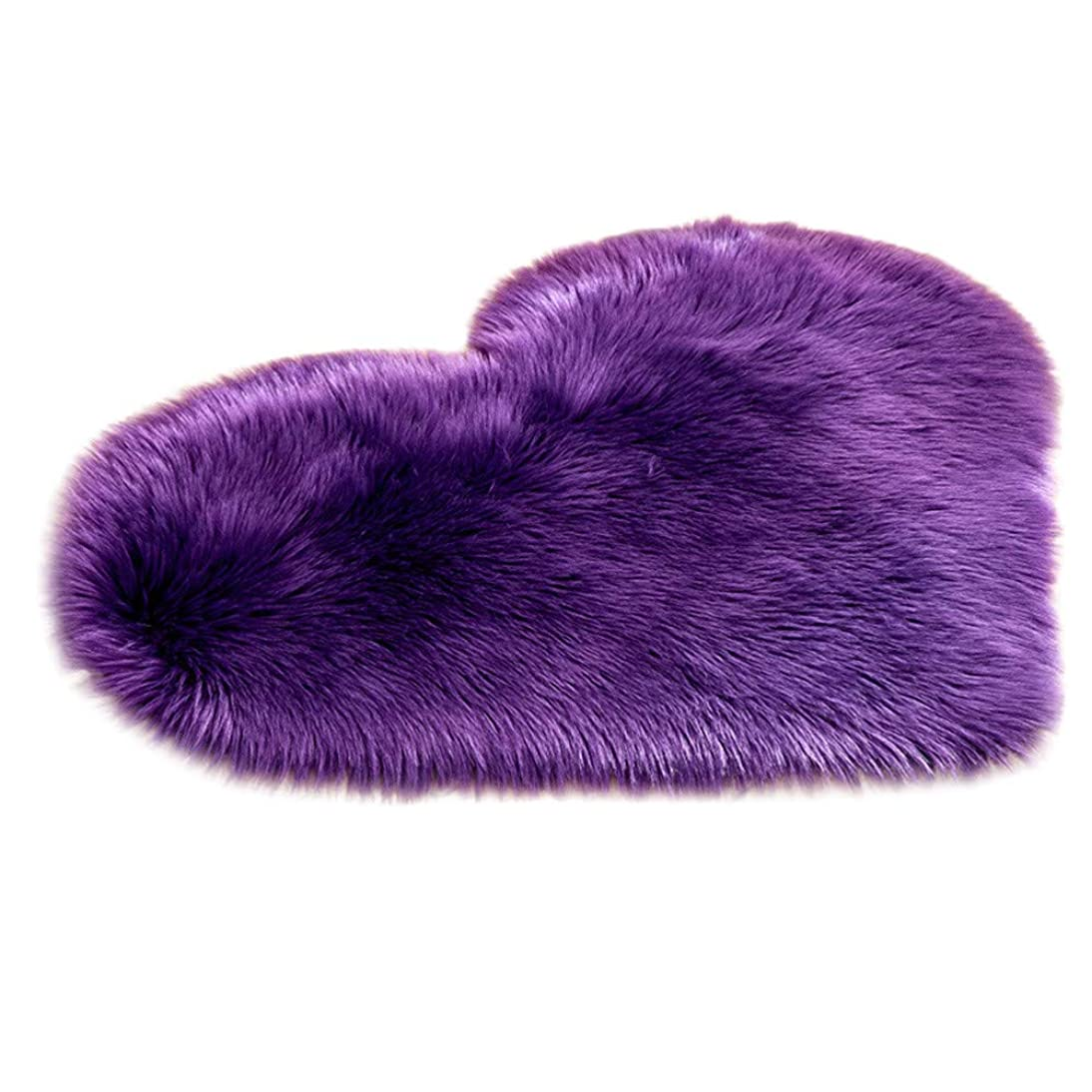 Creazy Wool Imitation Sheepskin Rugs Faux Fur Non Slip Bedroom Shaggy Carpet Mats (E) lsfp638453045253