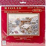 Riolis Kreuzstich-Set, Zählmuster Verschneiter Winter-Kit de Punto de Cruz, diseño de Invierno, algodón, Multicolor, 30.0 x 30.0 x 0.1 cm