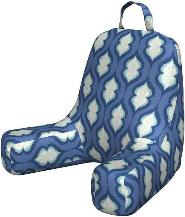 Ambesonne Aqua Damask Bedrest Inventory cleanup selling sale with Funky Pocket Abstr Popular shop is the lowest price challenge Back Look
