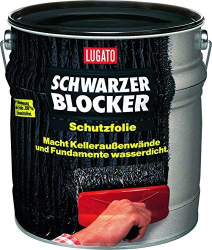 Lugato Schwarzer Blocker Schutzfolie 10 l - Wasserdichter, flexibler Bitumenanstrich