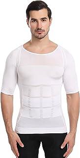 Men's Body Shaper Slimming Vest T-Shirt Elastic Slim Shapewear Compression Undershirts Tummy Control Waist Trainer