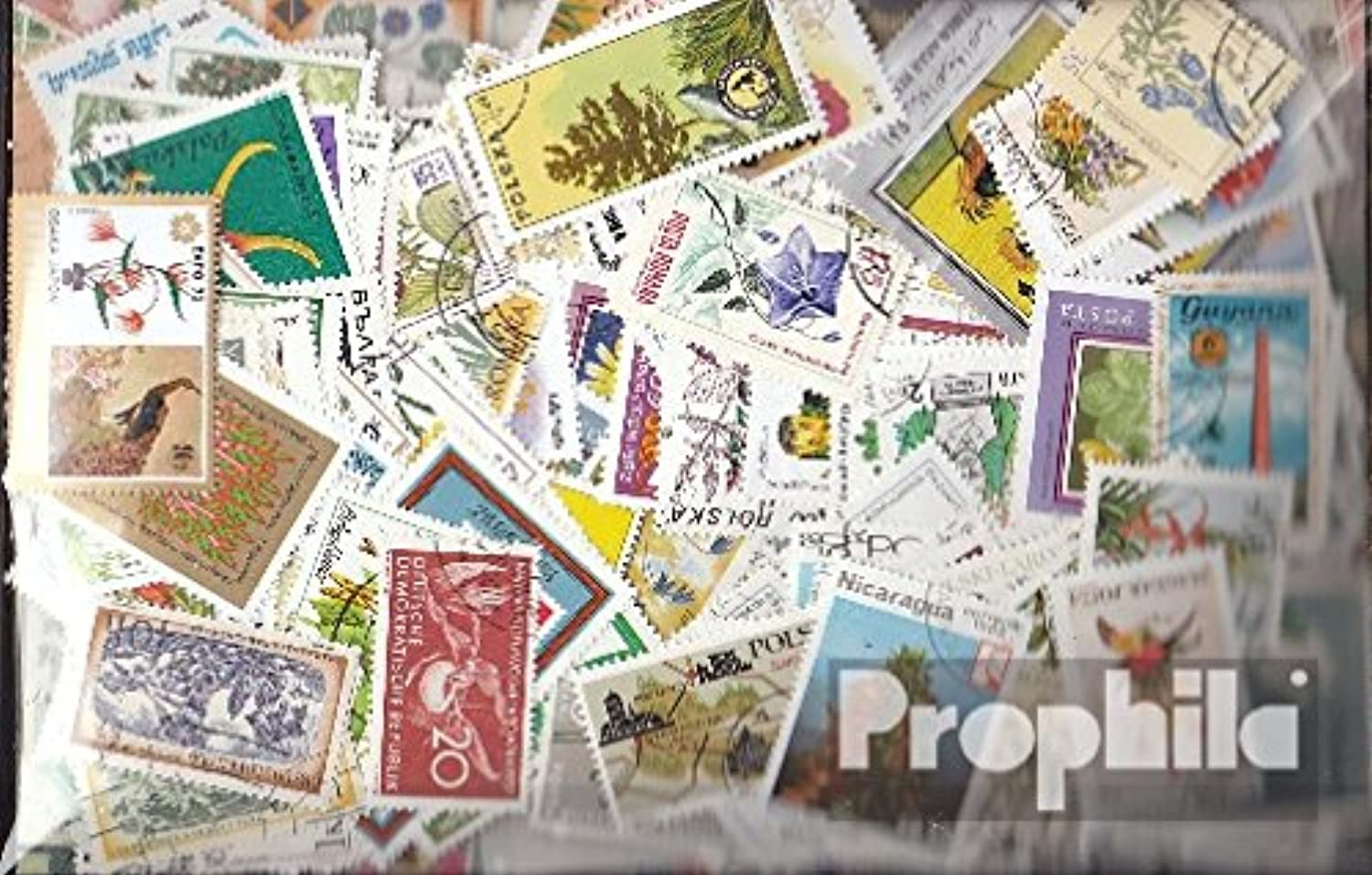 Motives 600 different Flowers and Plants stamps (Stamps for collectors) plants