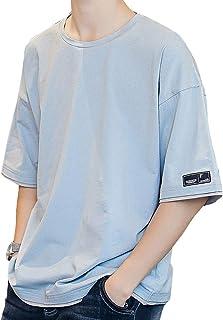 tシャツ メンズ 半袖 夏服 ゆったりシャツ 無地 綿 軽い 柔らかい メンズ トップス 夏季対応 JIAYBL