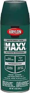 Krylon K09164000 COVERMAXX Spray Paint, Satin Hunter Green, 12 Ounce