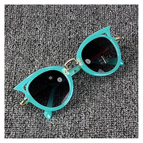 ZHEMAIE Gafas de Sol 2018 niños Gafas de Sol Chicas Marca Gato Ojo niños Gafas niños uv400 Lentes bebé Gafas de Sol Lindo Gafas Sombras Gafas (Frame Color : 20, Lenses Color : Green)