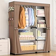 HN Wardrobe, Cloth Wardrobe Assembly Cloth Wardrobe Simple Wardrobe Thickened Bold Folding Storage Cabinet 5 Color Optiona...