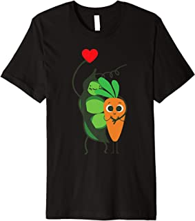 Peas And Carrots Love Funny Vegetable Food Lover Pun Gift Premium T-Shirt