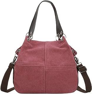 Wultia - Women Bag Fashion Women Girl Outdoor Canvas Pure Color Shoulder Bag Hand Bag Travel Bag Bolsa Feminina Purple