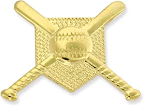 JDS Industries PinMart's Gold Baseball Bats Ball and Base Sports Pin