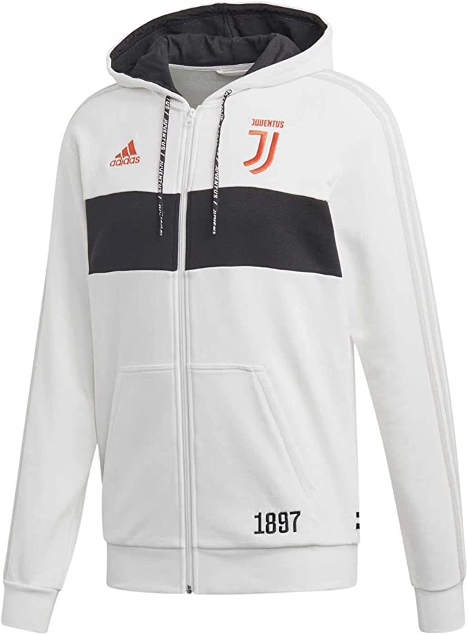 adidas Juventus Felpa FZ con Cappuccio Bianca 2019/20