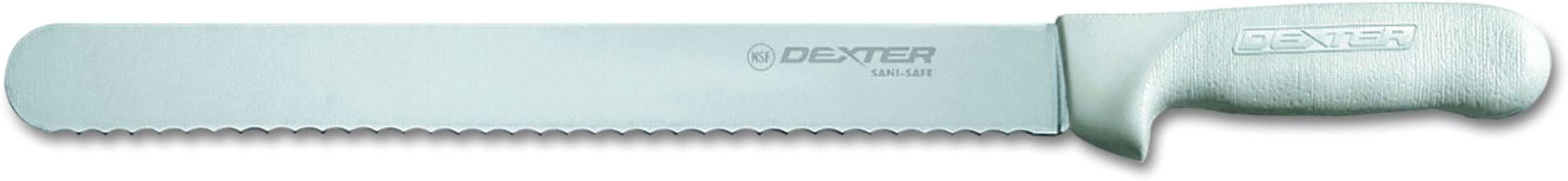 Dexter 13463 12 Inch Silver Sani Safe Scalloped Roast Slicer Knife